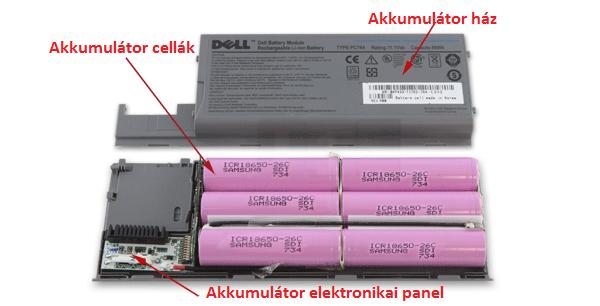 Laptop-akkumulátor-felépítése