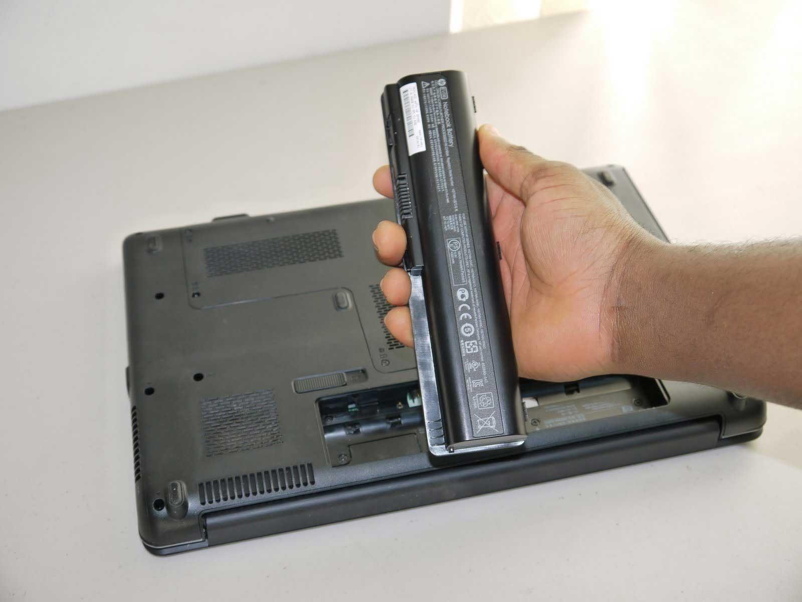 Laptop akkumulátor csere