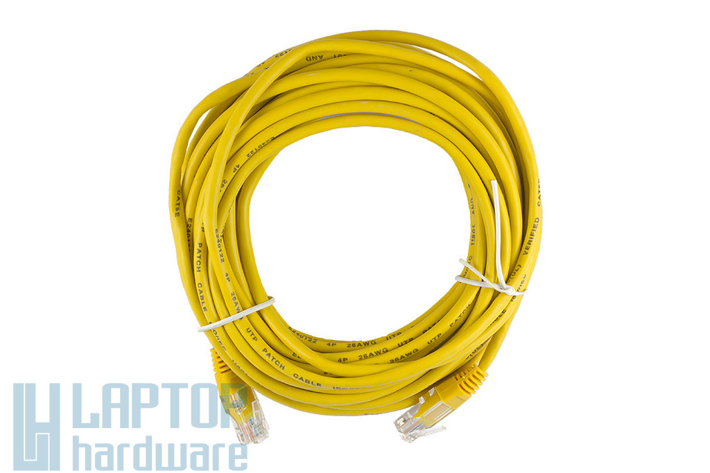 10m CAT.5E sárga UTP Patch kábel, WL021BG-10 YE