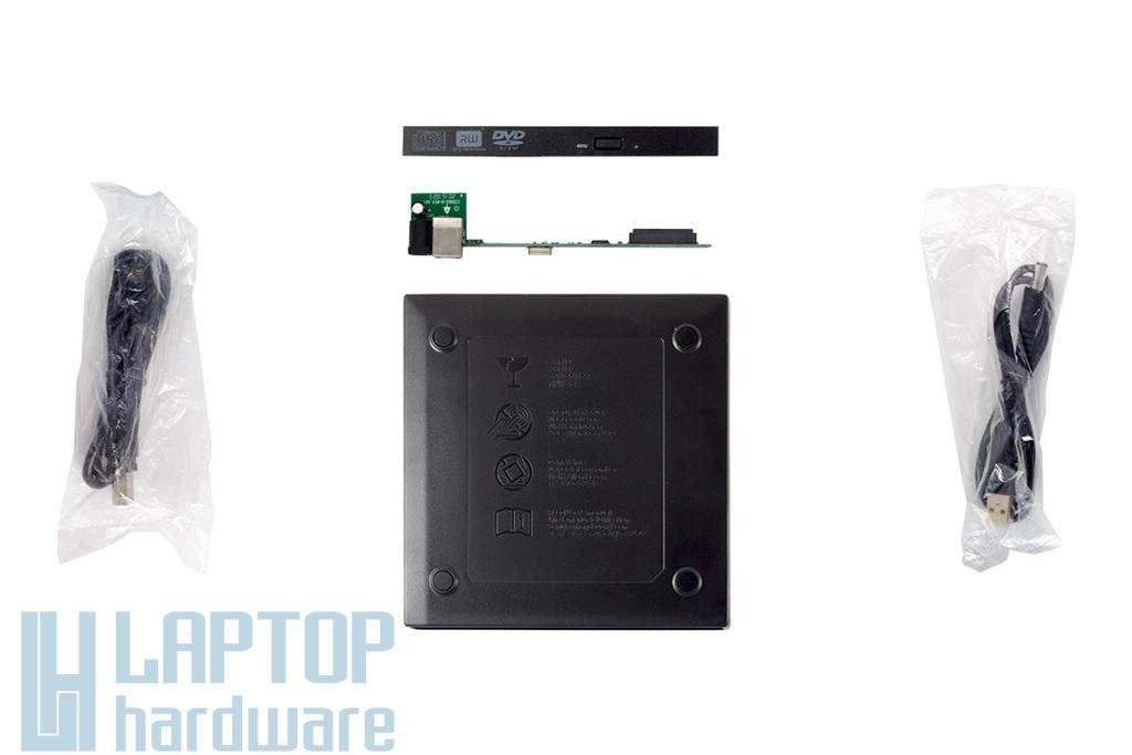 12,7mm ODD (CD/DVD) meghajtóhoz összerakható külső ház (átalakító: SATA/USB(2.0)) Ingyenes beszereléssel!
