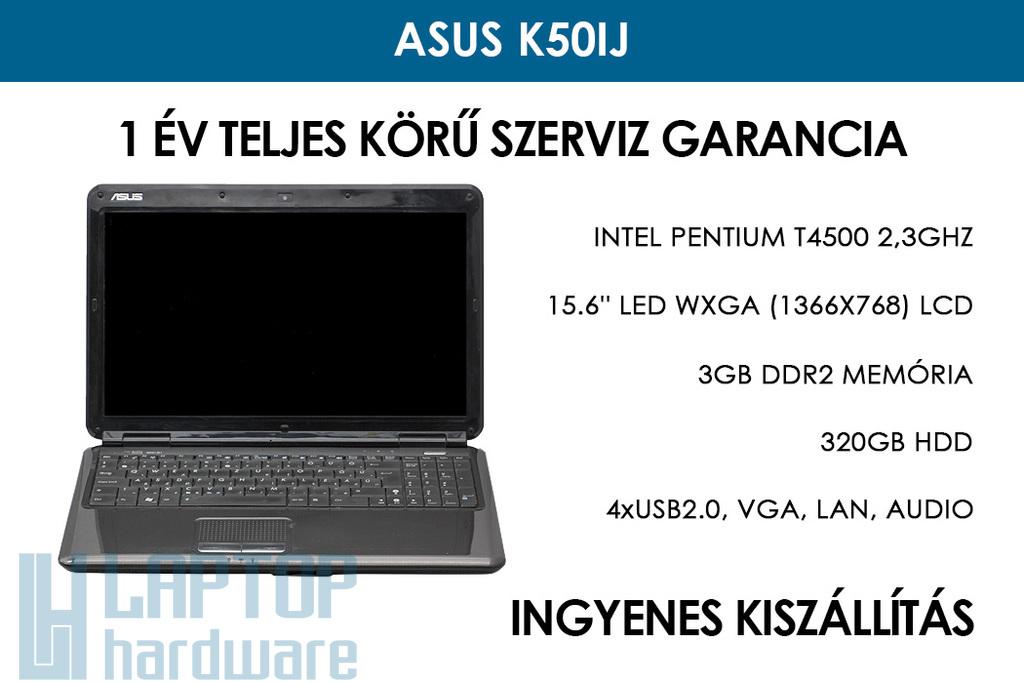 Asus K50IJ használt laptop | Intel Pentium T4500 2,3GHz | 3GB RAM | 320GB HDD | WiFi | Webkamera