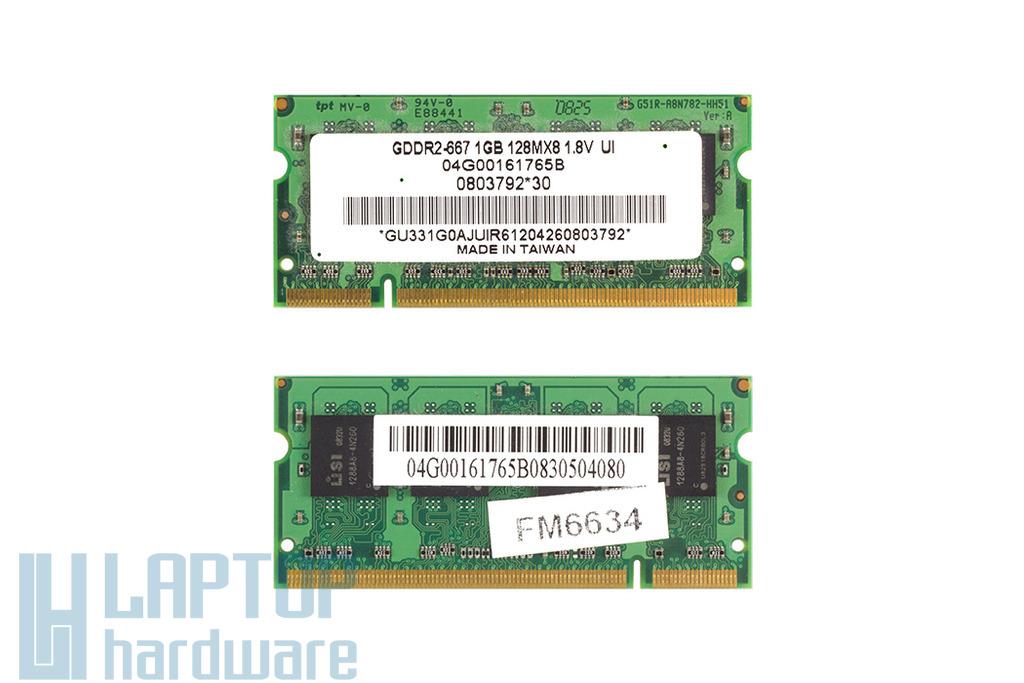 Usi 1GB DDR2 667MHz használt laptop memória Asus laptopokhoz (04G00161765A)