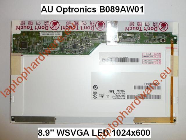 Gyári új fényes 8,9'' (1024x600) LED laptop kijelző (csatlakozó: 40 pin - jobb)