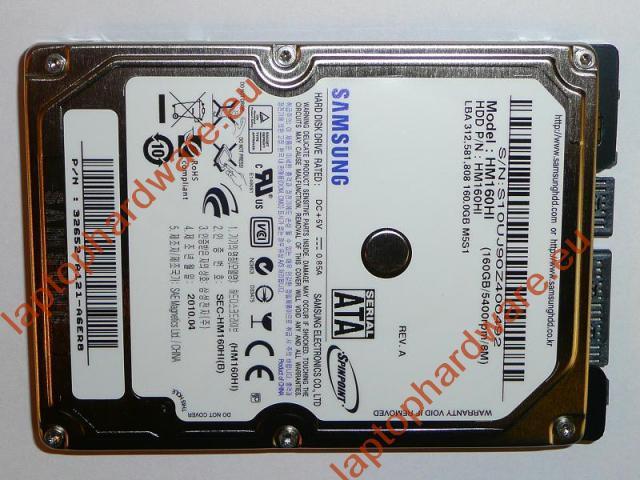 160GB 5400RPM 2,5'' SATA (1,5Gbit/s) gyári új laptop winchester, HDD