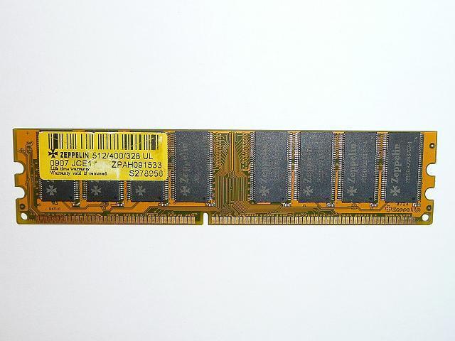 Zeppelin 512MB DDR 400MHz Desktop RAM