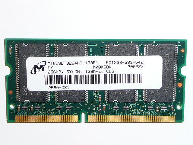 Micron 256MB SDRAM 133Mhz használt laptop memória