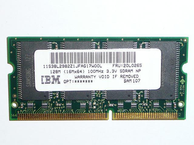 Samsung 128MB SDRAM 100MHz használt laptop memória