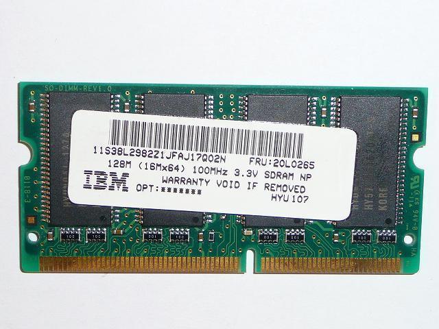 HYUNDAI 128MB SDRAM 100MHz használt laptop memória