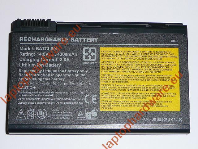 Acer Asprire 9010, Travelmate 290, Lenovo 3000 4 cellás 65%-os laptop akku/akkumulátor  BATCL50L4