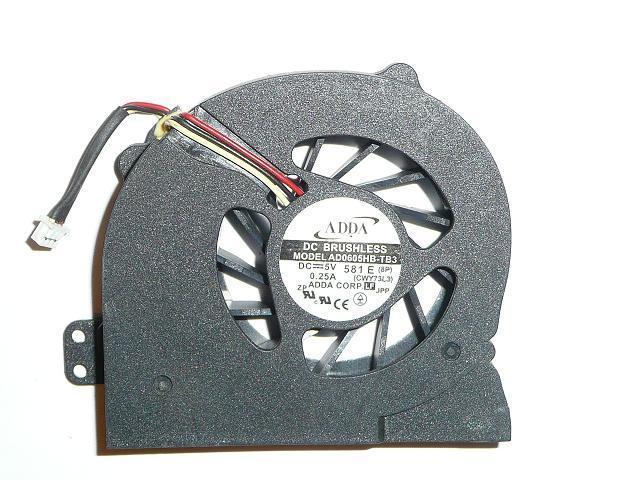 Acer Aspire 1640, 3000, 5000 Helyettesítő Új hűtő ventilátor ADDA AB6505HB-E03