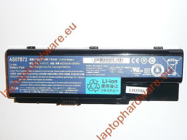 Acer Aspire 5220, 5720, Travemate 7230 használt 40%-os, 8 cellás laptop akku/akkumulátor (AS07B72)