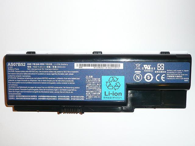Acer Aspire 5220, 5720, Travemate 7230  AS07B52 8 cellás gyári új laptop akkumulátor