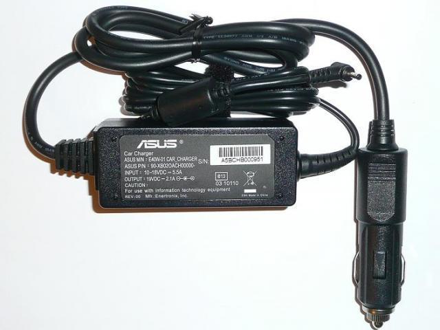 Asus EEEPC 19V 2.1A 40W gyári új autós laptop töltő (E40W-01 CAR_CHARGER)