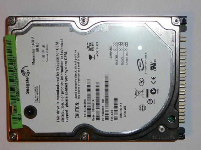 Seagate 60GB PATA (IDE) Winchester