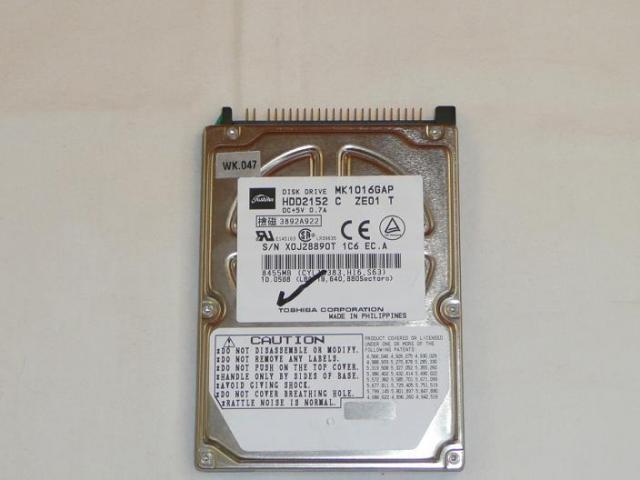 Toshiba 10GB IDE Winchester