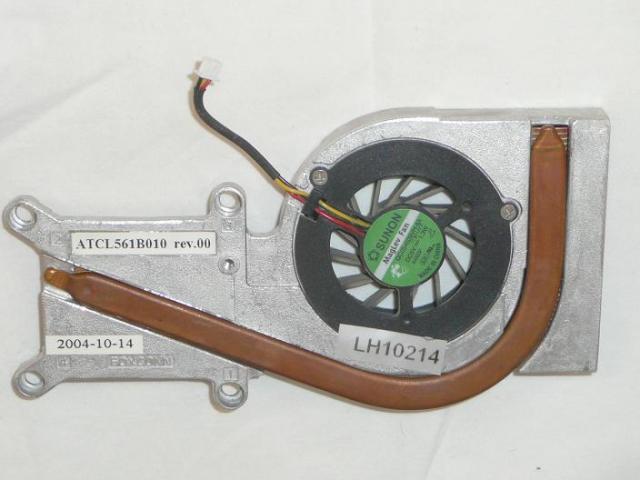 Toshiba Satellite M30X, M35X használt hűtő ventilátor egység