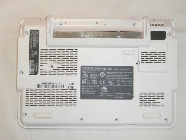 Airis Kira D40 Alsó burkolat bottom case, base cover, 36IL1BC0010