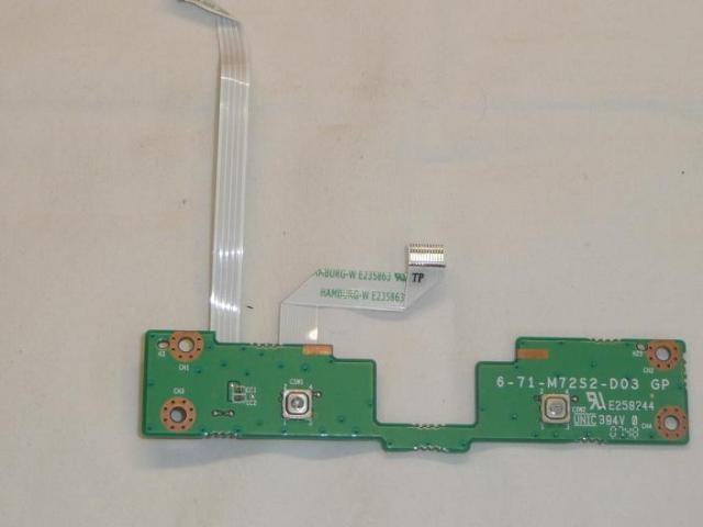 6-71-M72S2-D03 Touchpad 2 szalagkábellel.