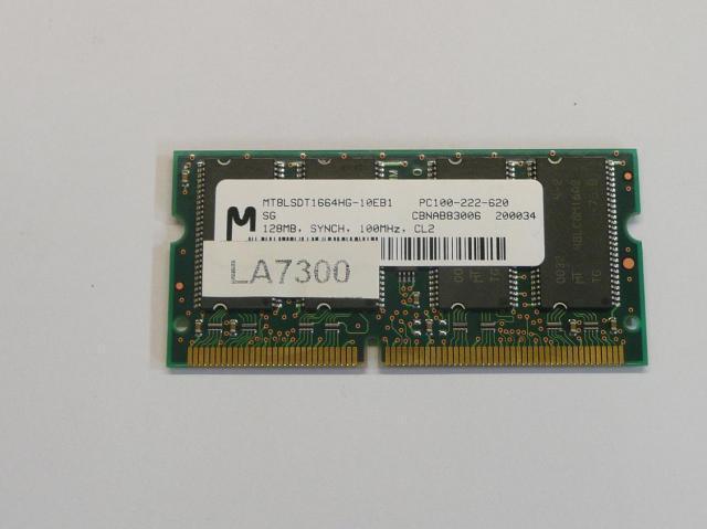 Micron 128MB SDRAM 100MHz használt laptop memória