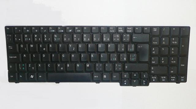 Acer Aspire 7520, 7720, 8920, 9300 Cseh/Szlovák matt fekete billentyűzet