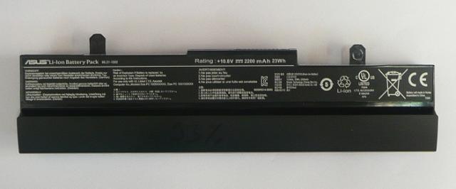 Asus EEEPC 1001HA, 1005HA használt 3 cellás 90%-os fekete laptop akku/akkumulátor (ML31-1005)