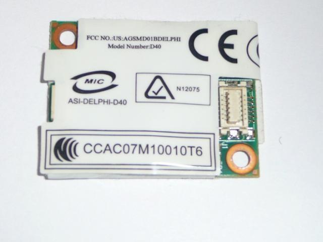 Asus X58C, X58L Modem