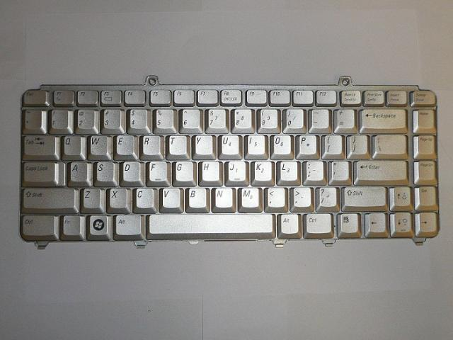 Dell Inspiron 1525, 1526, XPS M1330 angol ezüst laptop billentyűzet