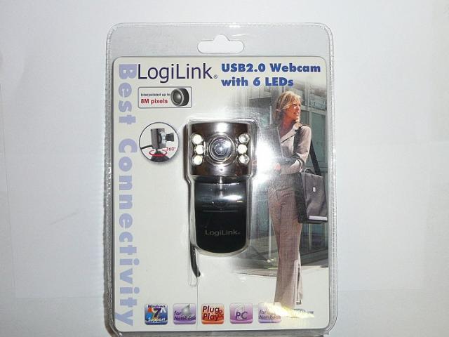 LogiLink USB-s webkamera 6 LED-el