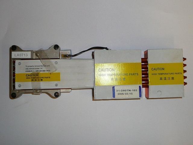 Clevo D9T használt laptop hőelvezető cső