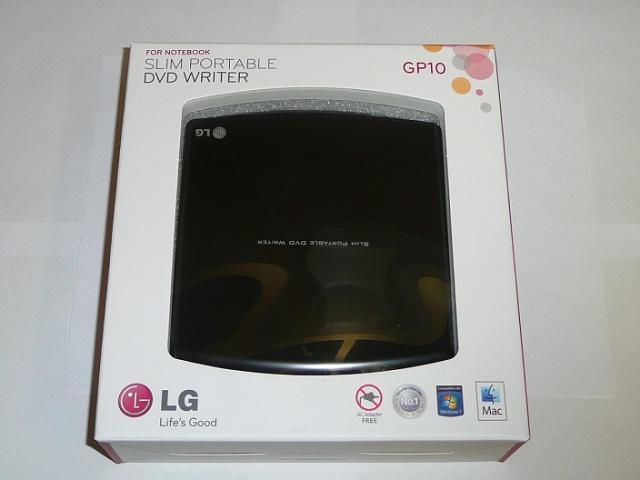LG fekete SLIM USB DVD Író, GP10NB21