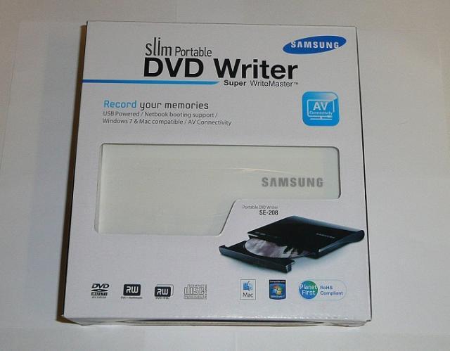 Samsung fehér SLIM USB DVD Író, SE-208AB/TSWS