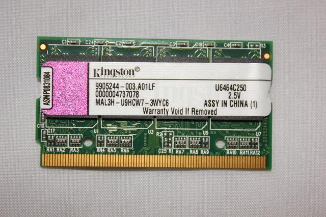 Kingston 512MB 333MHz microDIMM DDR RAM memória