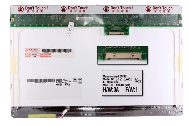 AUO B121EW03 V.1 (12.1 inch) WXGA 1280*800 Gyári Új fényes laptop kijelző