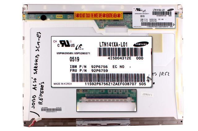 LTN141XA-L01 1024*768 B osztályú, érték csökkent laptop kijelző