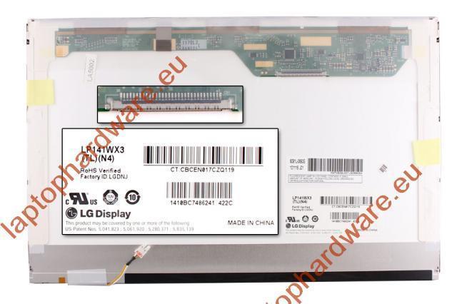 LP141WX3-TLN4 WXGA 1280*800 CCFL használt fényes laptop kijelző