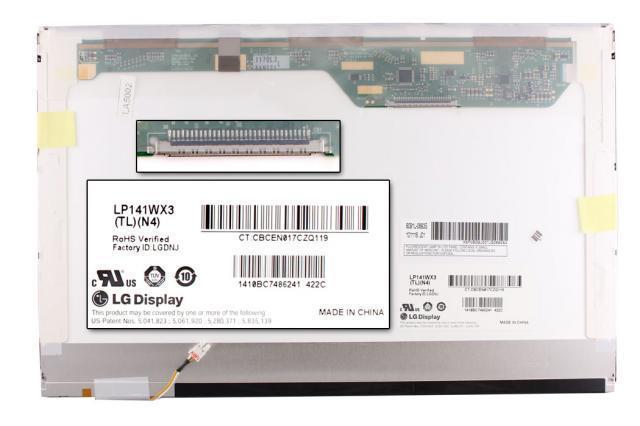 LG LP141WX3-TLN4 WXGA 1280x800 CCFL gyári új fényes laptop kijelző