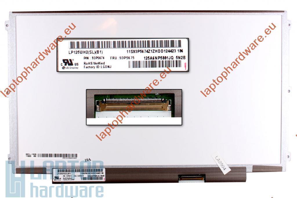 LG LP125WH2-TLB1 12,5 LED használt matt kijelző Lenovo ThinkPad X220 laptopokhoz.