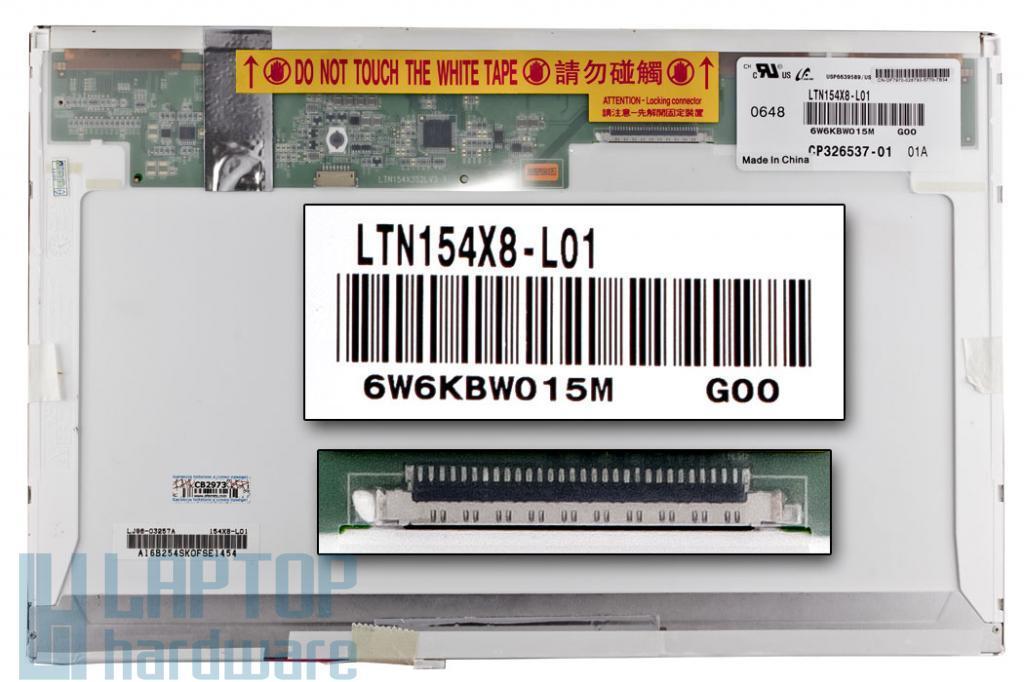 LTN154X8-L01 15.4'' WXGA CCFL Gyári Új kijelző fényes