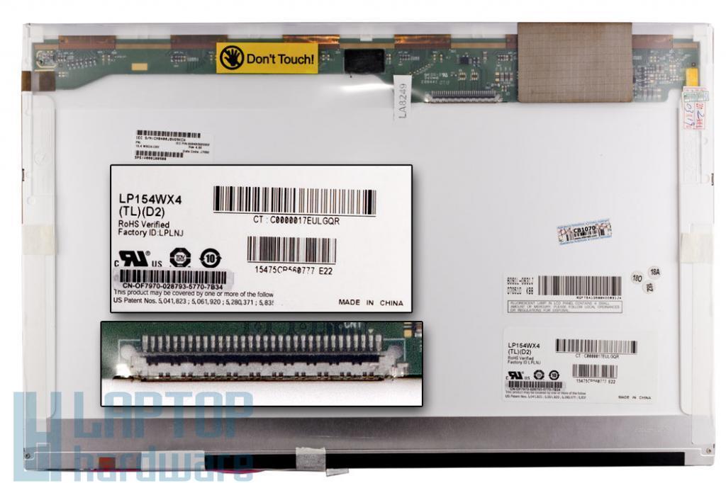 LP154WX4 WXGA 1280*800 Gyári Új fényes kijelző
