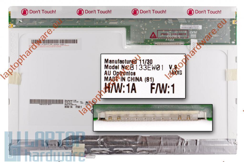 AUO (B133EW01) 13.3'' CCFL használt matt 30 pines laptop kijelző