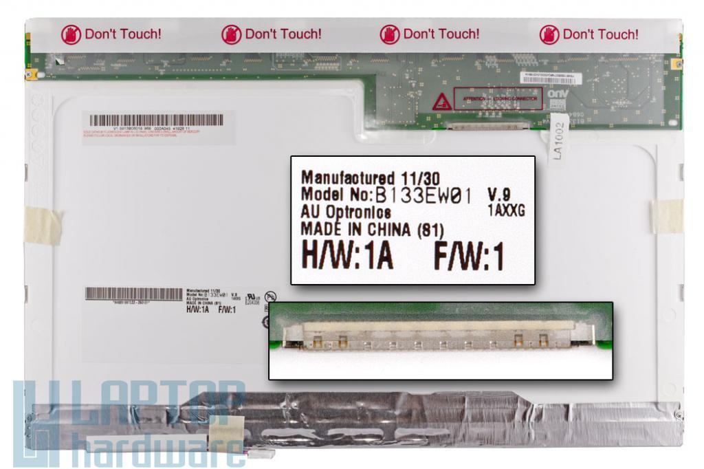 AUO (B133EW01) 13.3'' CCFL gyári új  matt 30 pines laptop kijelző