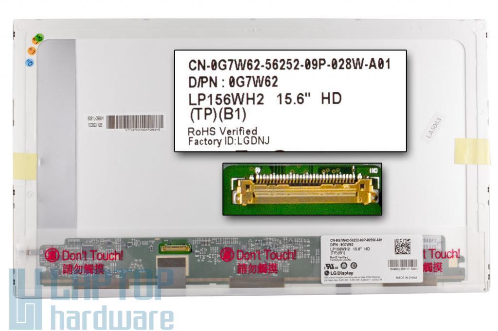 "Gyári új matt 15.6"" HD (1366x768) LED kijelző Dell Latitude E5510, E6510 laptophoz"
