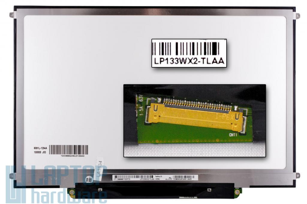 Használt fényes 13,3'' (1280x800) LED laptop Slim kijelző (csatlakozó: 30 pin - bal, elöl)