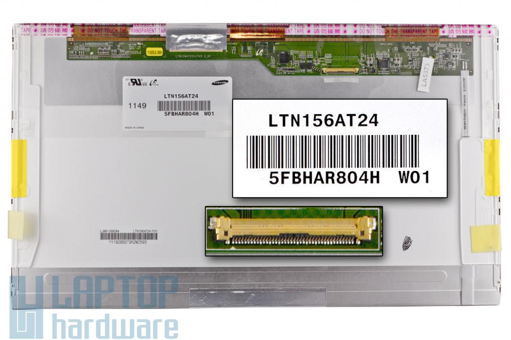 Samsung LTN156AT24 HD LED B kategóriás FOLTOS fényes kijelző