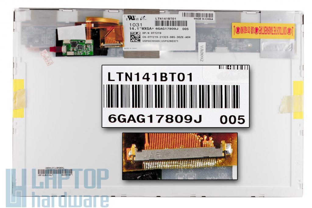 Gyári új matt 14.1'' (1440x900) LED kijelző Dell Latitude E6400, Precision M2400 laptopokhoz (csatlakozó: 30 pin - bal speciális)