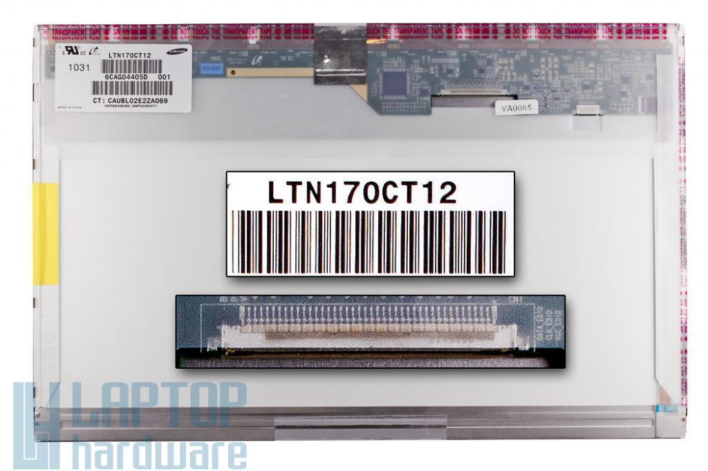 Gyári új matt 17.0'' (1920x1200) LED kijelző HP EliteBook 8740W laptophoz (csatlakozó: 40 pin - jobb felső)