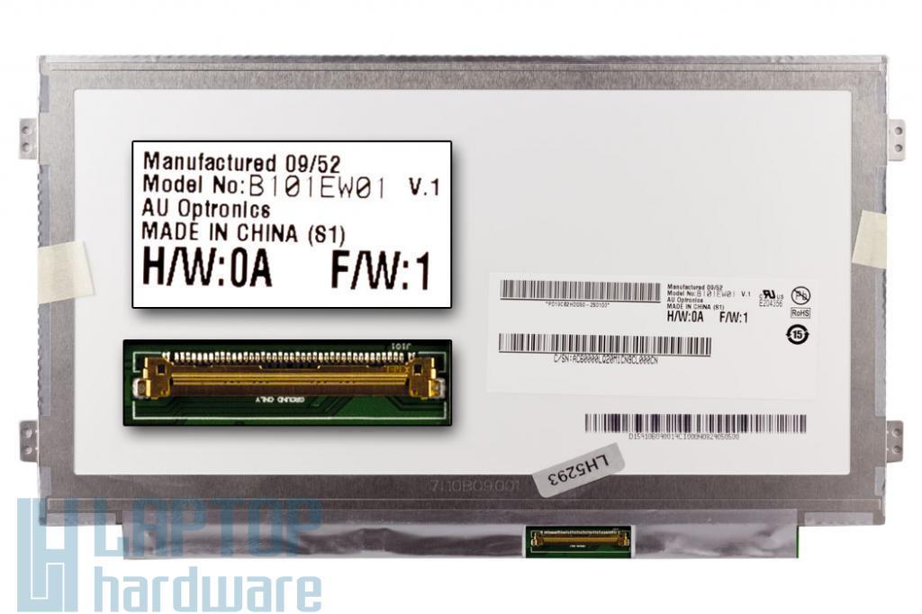 Gyári új matt 10.1'' SD+ (1280x720) LED laptop Slim kijelző (csatlakozó: 40 pin - jobb)