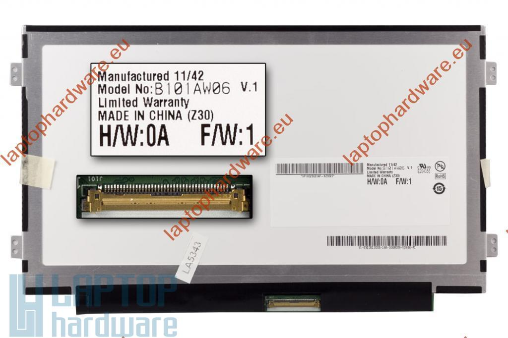 """Acer Aspire One D250, D255, D260 használt """"C"""" kategóriás slim laptop kijelző, B101AW06 V.1"""