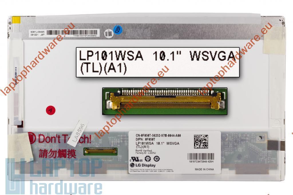 LG LP101WSA-TLA1 WSVGA 1024x600 használt fényes kijelző Dell Inspiron Mini 10 laptopokhoz