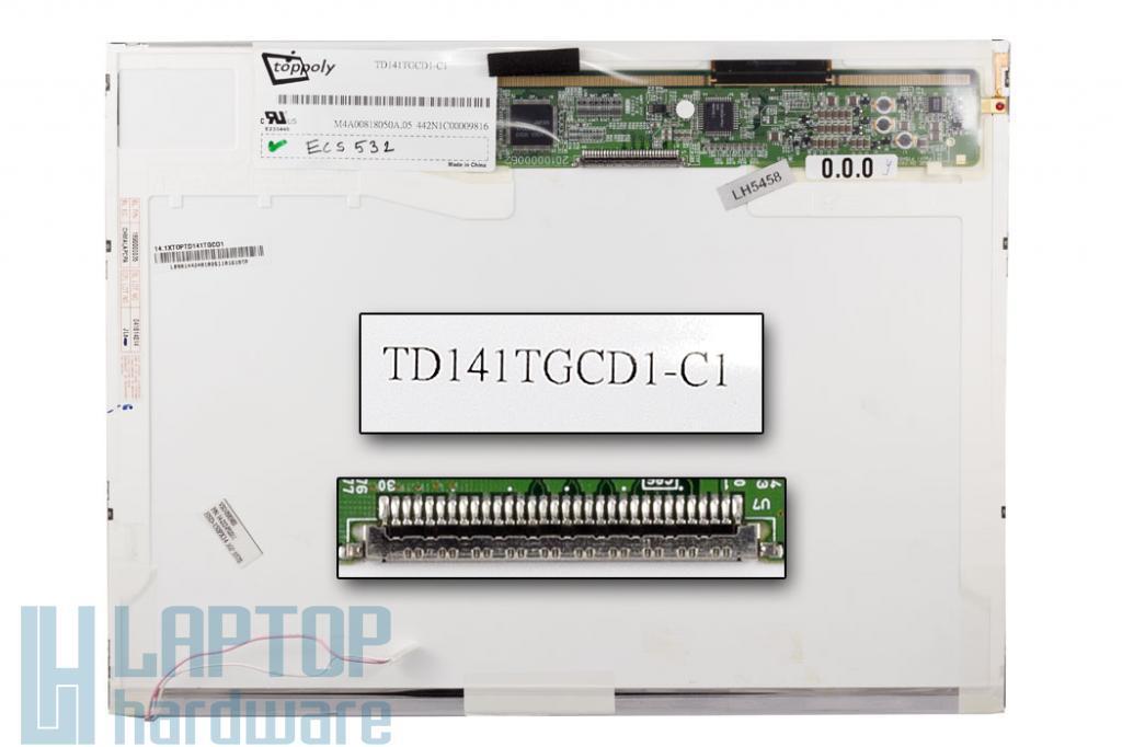 Toppoly TD141TGCD1-C1 14'' használt notebook kijelző
